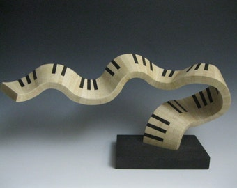 Modern Abstract wood  sculpture abstract keyboard