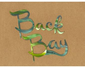 Back Back Boston Typography Priny