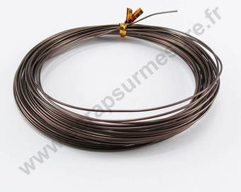 Ø 1 mm x 5 m - Brown matte - aluminum wire