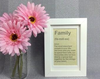 Family Gift - Family Quote Print - Family Frame - Family Print - Family Wall Art - Family Quote Sign - Family Gift Frame - Gift For Families