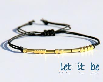 Morse code bracelet-Morse code bracelet custom-Mother's day gift -Sister morse code bracelet-Best friend morse code bracelet-Mother Daughter
