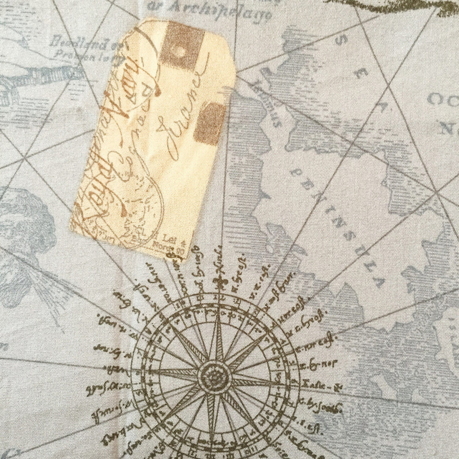 Map fabric by the yard world map fabric vintage map print fabric sold by cmfabric gumiabroncs Choice Image