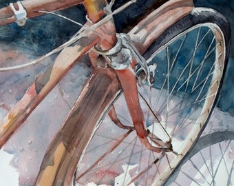 Bicycle Art Print from my original Watercolor Painting