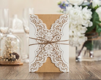 Rustic wrapping invitation