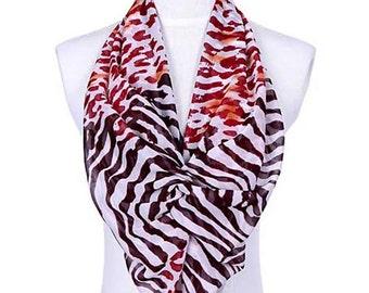 Womens Scarf, Brown Scarf, Leopard Print Scarf, Zebra Print Scarf, Chiffon Scarf, Voile Scarf, Cotton Scarf, Fashion Scarf, Shawl