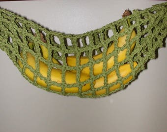 Banana Hammock, Fruit Hanger, Holder, Net, Olive Green