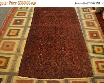 41% OFF FLAT SALE Vintage Bashiry Turkoman Carpet