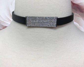 Leather ID Choker | Leather Choker | Choker Necklace | Choker