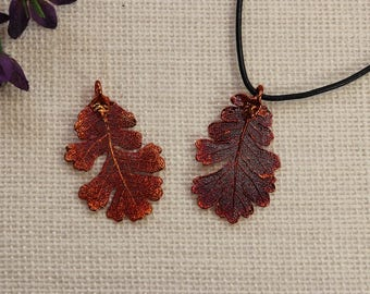 SALE Leaf Necklace, Copper Oak Leaf, Real Lacey Oak Leaf Necklace Copper Oak Leaf, Copper Leaf Pendant, SALE360