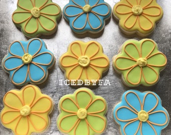 Flower cookies | sugar cookies perfect for baby showers