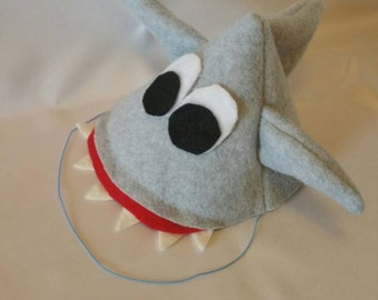 Shark birthday party hat shark week shark lover ocean themed party supply shark party favor funny hat boy birthday first birthday