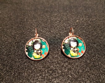 Chinese doll earrings