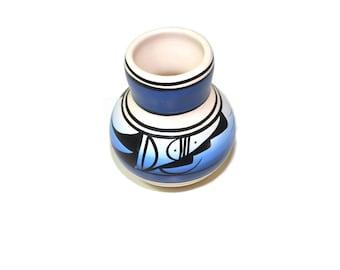 Vintage Blue Pottery Vase Navajo Pottery Vase Southwestern Vase Blue Pottery Vase Native American Pottery