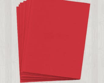 25 Sheets of Cover Stock - Red - DIY Invitations - Paper for Weddings & Other Events