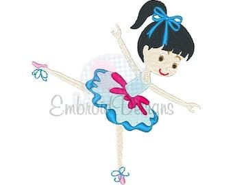 Ballerina Machine Embroidery Design 113614 Ballet Design Dance Filled Stitch 4X4 5X7 8X8 6X10 Instant download