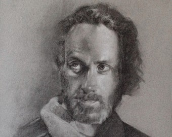 Original Charcoal Drawing: Rick Grimes