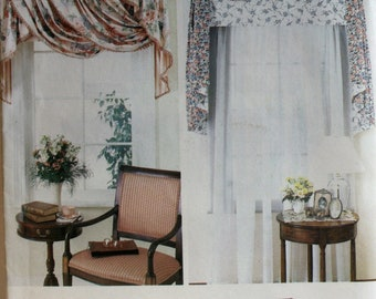 Curtains Sewing Pattern - Window Coverings Sewing Pattern - Cornice sewing Pattern -   Simplicity 7041 - Instruction Book
