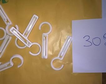 308) plastic hooks for shirring tape
