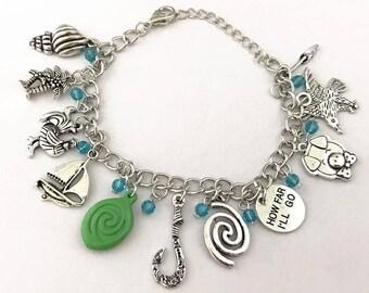 Moana Fun Themed Charm Bracelet Inspired Free Shipping