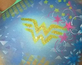 Wonderwoman (inspired) Stencil