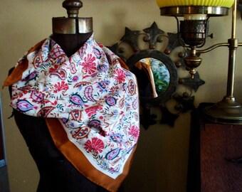 Vintage Huge Casca for Magid Silk Scarf