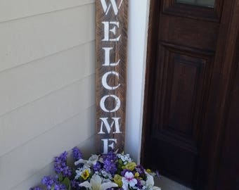 Welcome Sign for front door, porch welcome sign, welcome wood sign, rustic welcome sign, reclaimed wood welcome sign, welcome door sign,