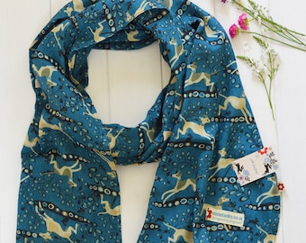 Whippet design 100% cotton scarf