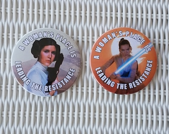 Pair of Star Wars Resistance Buttons or Magnets