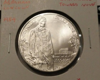 1984 Abraham Lincoln With Malice Toward None Aluminum Medal