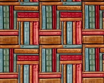 Blank Quilting - Bookshop - Stacked Books