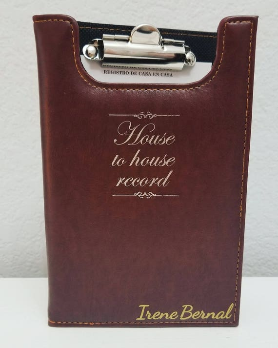 Personalized Jw House To House Record Holder Jw Ministry