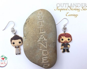 Claire & Jamie - from Outlander- sterling silver earrings