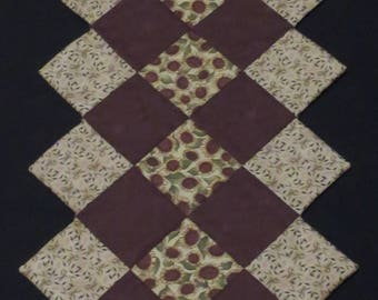 Sunflower Quilted Table Runner