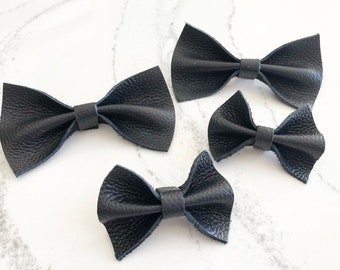 Isabella | Leather Bow | Leather Bow Tie | Bow Tie | Clip on Bow tie | Leather Bow Headband | Leather Bow Clip | Black Bow tie | Black Bow |