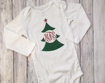 Personalized Christmas Bodysuit // Monogrammed Christmas Bodysuit // Christmas Shirt // Personalized Christmas Shirt // Monogrammed Shirt
