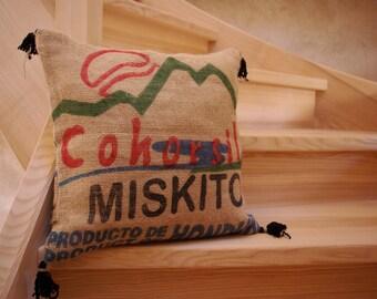 Cushion jute canvas (coffee bag)