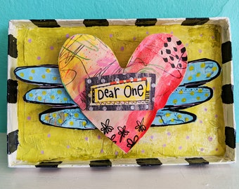 Dear One Paper Heart Shadowbox