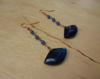 Insouciant Studios Contrast Earrings Copper Agate Quartz
