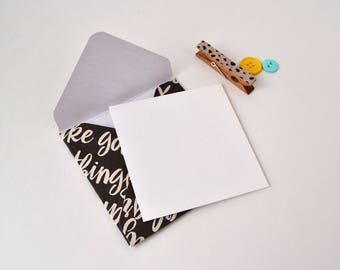 Mini Handmade Envelopes with cards- Assorted Mini Printed Envelopes - Set of 5 mini Envelopes
