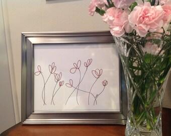 Custom Minimalist Floral Illustration
