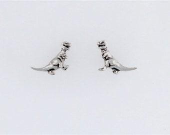 Sterling Silver Tyrannosaurus Rex Post or Stud Earrings