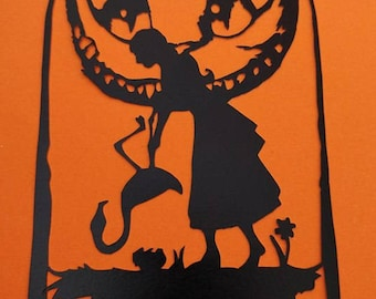 Alice in Wonderland papercutting template  Fantasy, Fairytale, alternative, birthday   Commercial Licence Instant download
