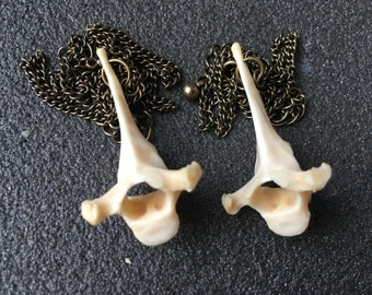 Simple Brass Vertebrae Necklace