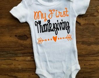 My First Thanksgiving Onesie