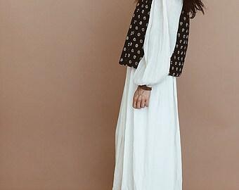 QUILTED IKAT VEST // Indigo Blue Vest // Bohemian Vest // Boho Clothing // Festival Clothing