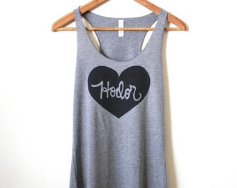 Game of Thrones - Hodor Tank Top - House Stark - Racerback Tank. MADE TO ORDER