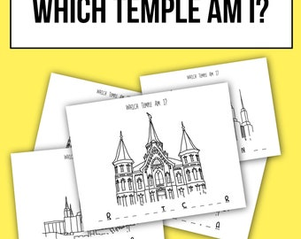 Which Temple Am I? Coloring Page Set