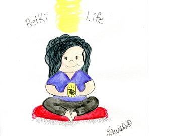 Reiki Girl with reiki symbol