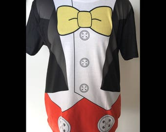 Made to Order (Ships in 4 weeks)  Mickey Mouse Tuxedo Inspired Adult Shirt