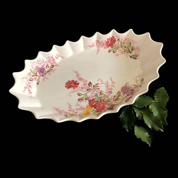 Like this item? & Vintage Spode China Porcelain Pickle Dish Ferry Dell Pattern